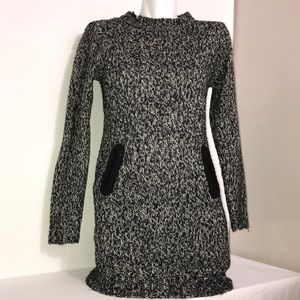 Ripe Black & White Chunky Knit Long Sleeve Dress